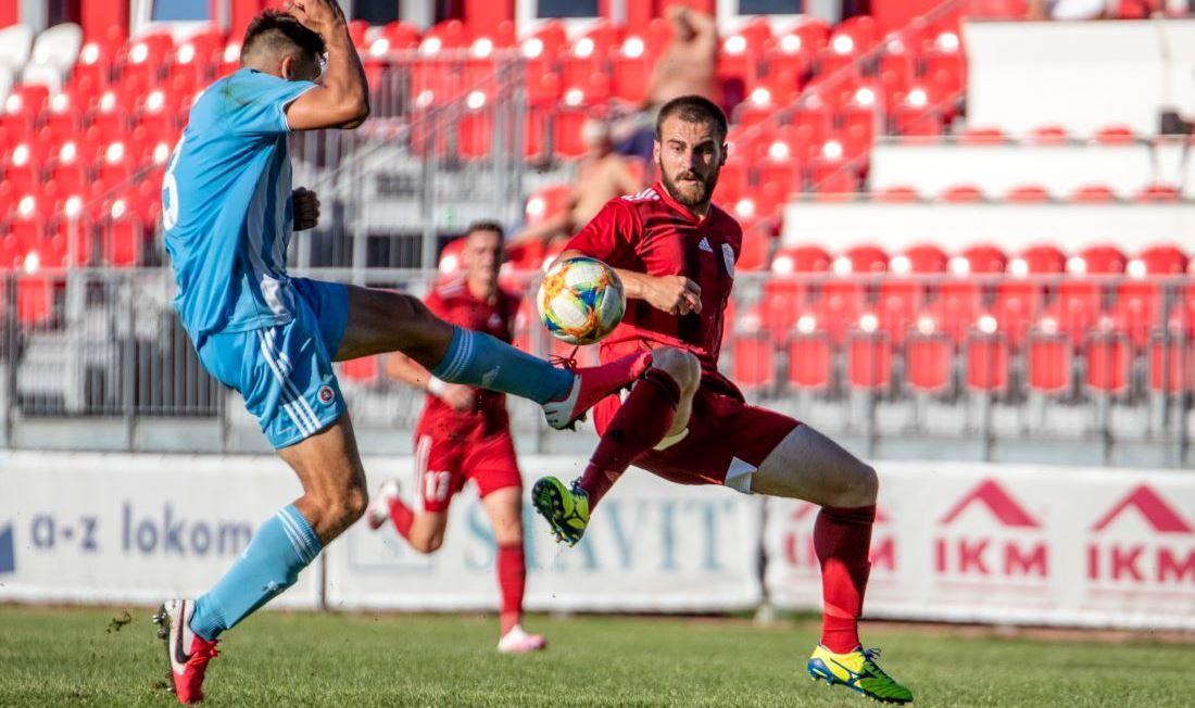 Miladin Vujošević zo zápasu so Slovanom B (Foto MFK Dukla, S. Telúch)