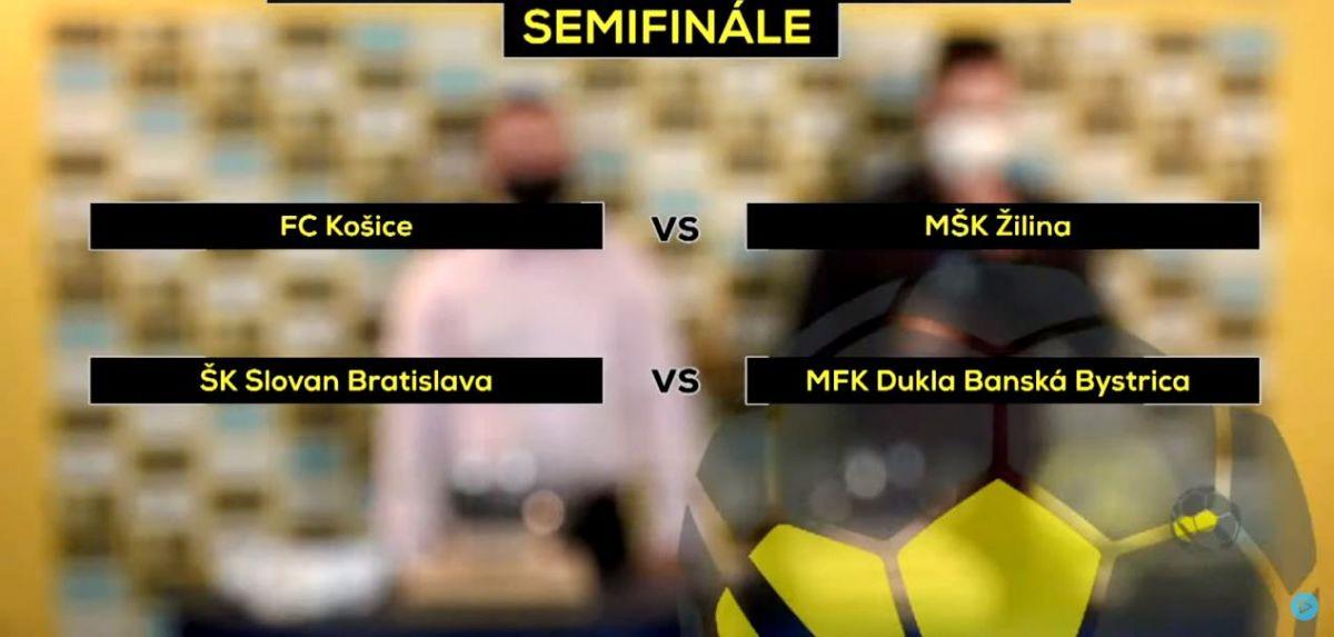 Vyžrebované dvojice semifinále pohára
