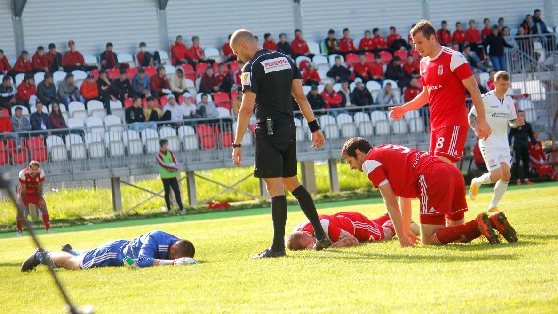 Situácia pri prvom góle súpera (R. Bielik)